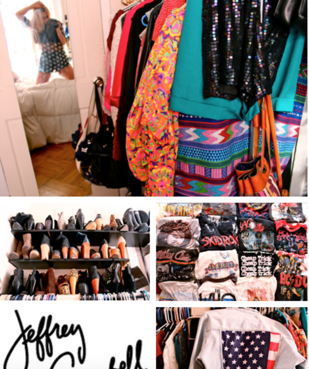 """Living in a walk-in closet"" WITH JEFFREY CAMPBELL."
